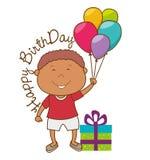 Happy birthday card design. Stock Photo