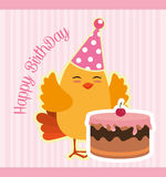 Happy birthday card design. Happy birthday colorful card design, vector illustration Stock Image