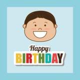 Happy birthday card design. Royalty Free Stock Photography
