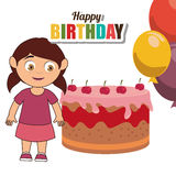 Happy birthday card design. Stock Images