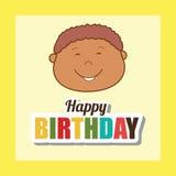 Happy birthday card design. Royalty Free Stock Photo