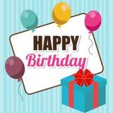 Happy birthday card design. Royalty Free Stock Photos