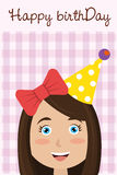 Happy birthday card design. Royalty Free Stock Images