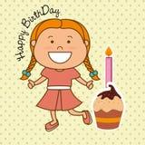 Happy birthday card design. Stock Image