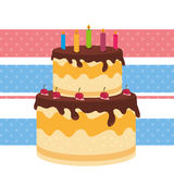 Happy birthday card design. Happy birthday colorful card design, vector illustration Stock Photo
