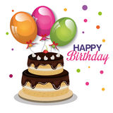 Happy birthday card design Royalty Free Stock Photo