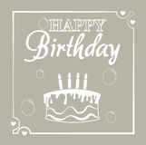 Happy birthday card design. Happy birthday card  design over  beige background vector illustration Stock Images