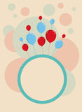 Happy Birthday card design template. 2d design of a card design template with circular pattern Stock Image