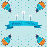 Happy birthday card design. vector. Royalty Free Stock Image