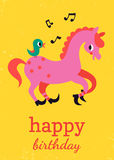 Happy birthday card design Stock Photo