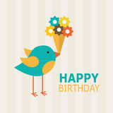 Happy birthday card design Royalty Free Stock Photo