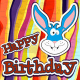 Happy birthday card design. Vector illustration Royalty Free Stock Photo