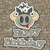Happy birthday card design. Vector illustration Stock Photography