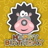 Happy birthday card design. Vector illustration Stock Photo