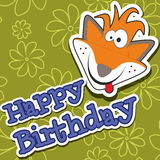 Happy birthday card design. Vector illustration Royalty Free Stock Photos