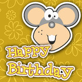 Happy birthday card design. Vector illustration Royalty Free Stock Photo