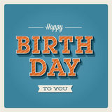 Happy birthday card, font type royalty free illustration