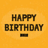 Happy birthday card with hand drawn lettering Royalty Free Stock Photos