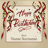 Happy birthday card Stock Images