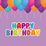 Happy birthday card. Icon vector illustration graphic design Royalty Free Stock Image