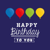 Happy birthday card. Icon vector illustration graphic design Royalty Free Stock Images