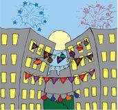 Happy birthday card illustration Stock Images