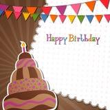 Happy Birthday Card. Illustration of a Happy Birthday Card Royalty Free Stock Photography