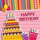 Happy birthday card. Illustration of Happy birthday card Vector Illustration