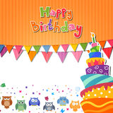 Happy Birthday Card. Illustration of a colorful Happy Birthday Card Royalty Free Stock Image
