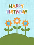 Happy birthday card. Stock Images