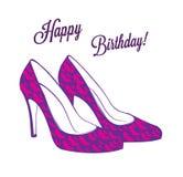 Happy Birthday card  illustration Stock Photography