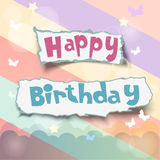 Happy birthday. Card or invitation stock illustration
