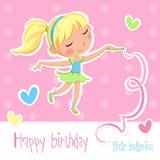 Happy birthday - Little ballerina stock illustration