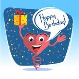 Happy birthday card  jumps 2 Royalty Free Stock Photos