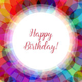 Happy birthday card in a kaleidoscope design. Happy birthday card in a in a kaleidoscope design, bright geometric pattern in different colors, idea for festive Stock Photography