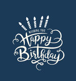 Happy Birthday. Birthday card with lettering design Stock Image