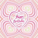 Happy Birthday Card. Pink abstract background. Optical illusion Royalty Free Stock Image
