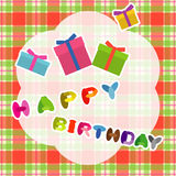 Happy birthday card with presents Royalty Free Stock Photos