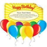 Happy Birthday Card. Ready for Your Text and Design Royalty Free Stock Images