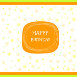 Happy birthday card ribbon bow Royalty Free Stock Photos