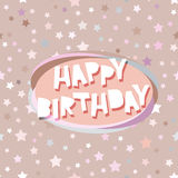 Happy birthday card seamless pattern with stars Royalty Free Stock Photos