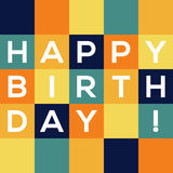 Happy Birthday card. Simple and creative Happy Birthday card with colorful squares Royalty Free Stock Photo