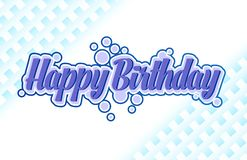 Happy Birthday card simple typography in a blue royalty free illustration