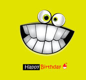 Happy Birthday Card smile Stock Photography