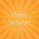 Happy Birthday Card With Stars Royalty Free Stock Image