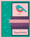 Happy birthday card template Royalty Free Stock Photo
