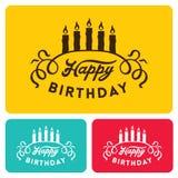 Happy birthday card templates Royalty Free Stock Image