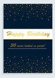 Happy Birthday card,for 30th birthday Royalty Free Stock Photos