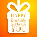 Happy birthday card. Typography letters font type Royalty Free Stock Photos