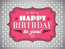 Happy birthday card. Typography letters font type Stock Images